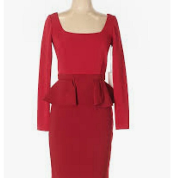 907fa00f4a6 NWT Lady in Red Bodycon Dress. NWT. JAYGODFREY.  189  300. Size. 6